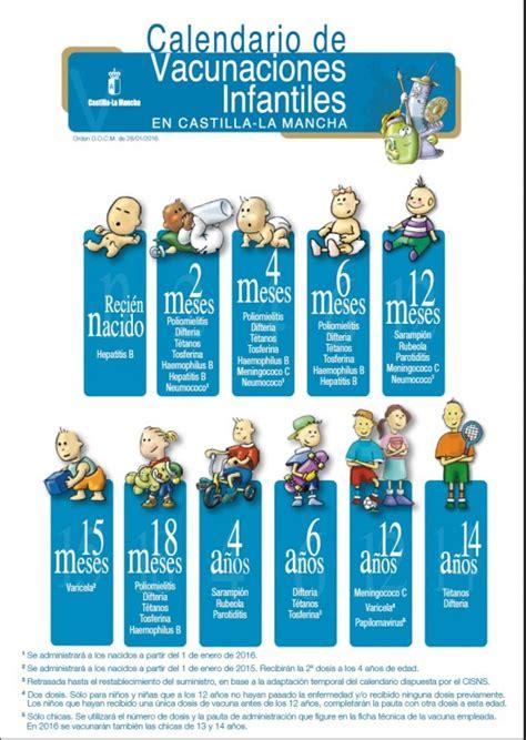 Calendario Vacunal Nuevo Calendario Vacunal De Castilla La Mancha 2016