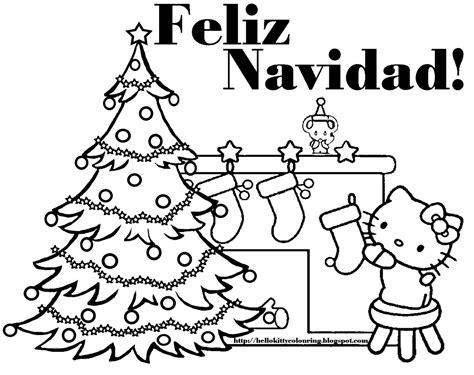 printable christmas coloring pages in spanish hello kitty christmas coloring pages 2 hello kitty forever