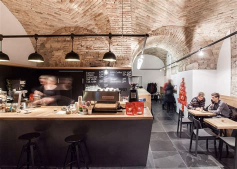 Cafe Design Hungary | embassy espresso caf 233 by spora architects budapest