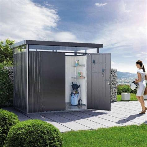 biohort highline h2 metal pent shed 8x6 garden