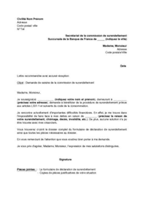 Lettre De Recommandation Modèle Sle Cover Letter Exemple De Lettre De Surendettement