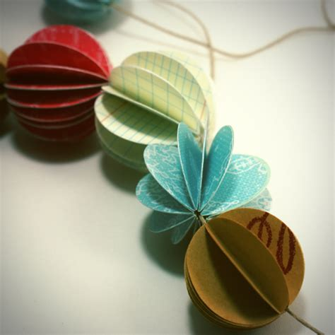 How To Make Paper Sphere - how to make garland