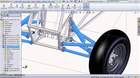 solidworks tutorial parts and assemblies solidworks baja sae tutorials large assembly tips and