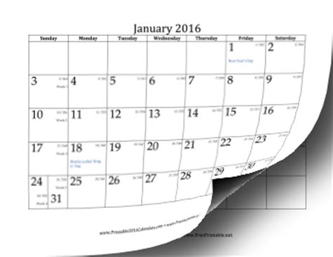 Day Number Calendar Printable 2016 Calendar With Day Of Year And Days