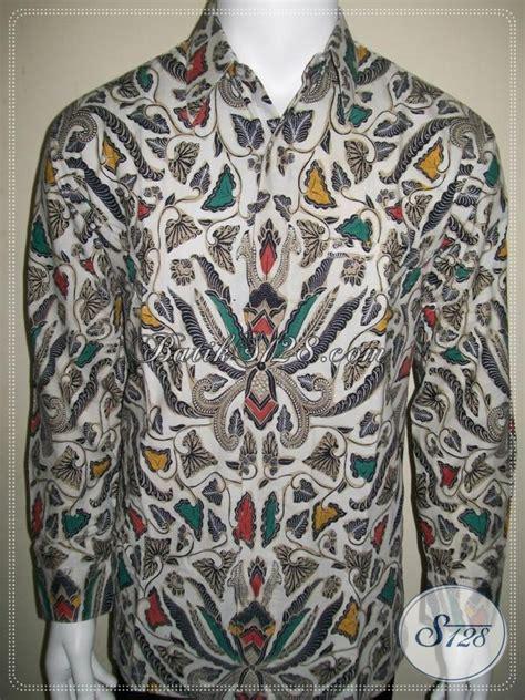 Batik Cap Laki Laki Lengan Panjang jual batik elegan lengan panjang untuk laki laki motif