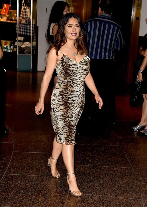 junes top celebrity pictures photos abc news salma hayek wears animal print on the red carpet picture