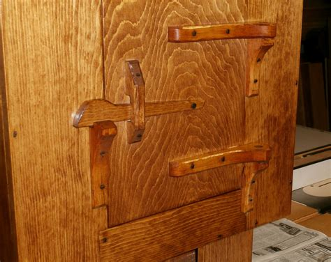 Rustic Kitchen Cabinet Hinges by Rustic Wall Cabinet W Carved Hinges Latch Max Vollmer