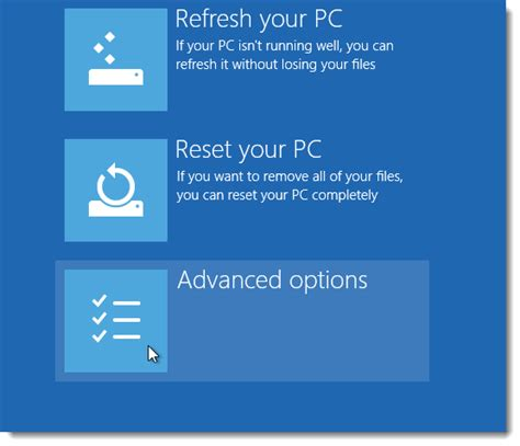 hp resetting your pc 1 three ways to access the windows 8 or 10 boot options menu