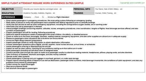 resumes for flight attendants flight attendant resume keywords flight attendant resume sle