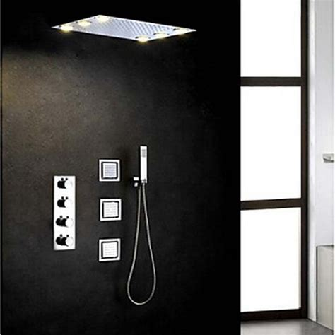 Jet Shower Shower Kloset Sc 01 rainfall led shower 20 inch ceiling mounted bathroom shower stainless steel rainfall