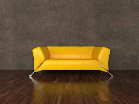 canapé jaune moutarde chambre jaune et noir