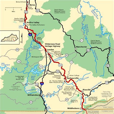 kentucky map cumberland gap 13 best images about ky on parks walking