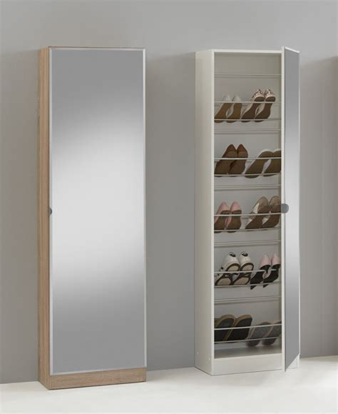 Mirrored Storage Cabinet Quot 88 Quot Mirrored Shoe Storage Cabinet Cupboard Shoe Rack Furniture Solution Ebay