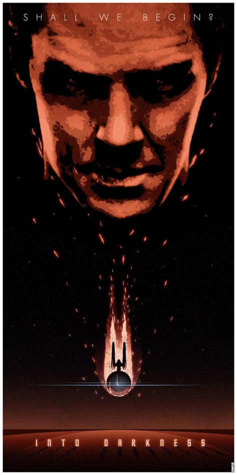 artist matt ferguson does an awesome poster for drive awesome star trek into darkness fan poster geektyrant