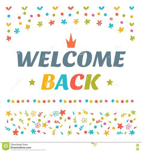 welcome back card template willkommen zur 252 ck simsen mit bunten gestaltungselementen
