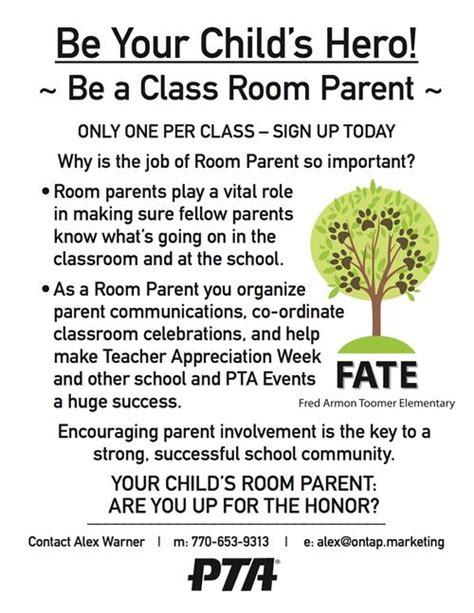 thank you letter to parents from room 28 thank you letter to room parents freebie