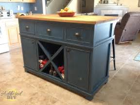 How To Make Kitchen Island by White Diy Kitchen Island Diy Projects