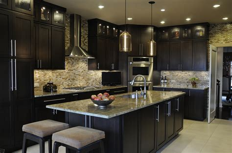 Hometown Kitchen Designs Dazzling Kitchen Design Ideas With L Shape Black Kitchen Cabinet And Mosaic
