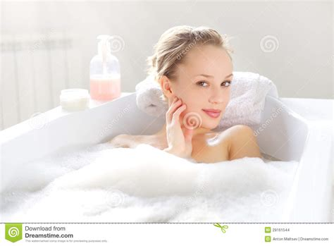 girl on girl in bathroom attractive girl relaxing in bath stock images image