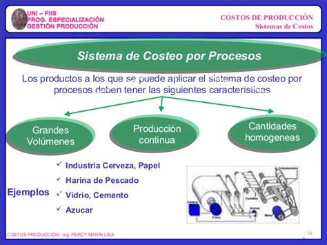 propuesta de un sistema de costo por procesos para las costos de produccion sesion 3