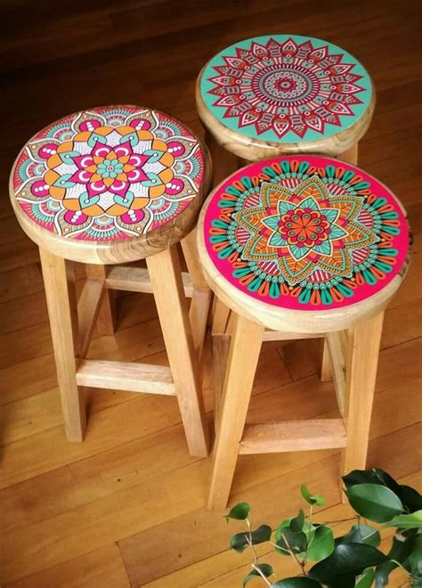 how to paint a bar stool best 25 painted stools ideas on pinterest pink