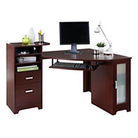 Corner Desk Office Depot Bradford Corner Desk Cherry By Office Depot Officemax