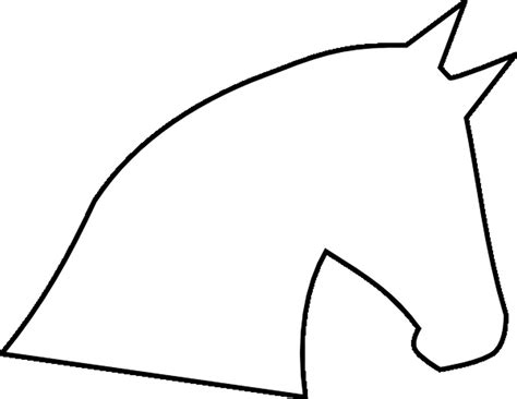 pattern outline horse head outline template click here to download