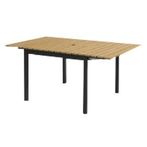 pacific casual 60 quot x 30 quot parkside faux wood patio dining