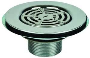 3 1 2in metal shower drain with strainer 1 1 2in thread