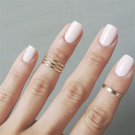 set of 8 knuckle ring midi ring above the knuckle