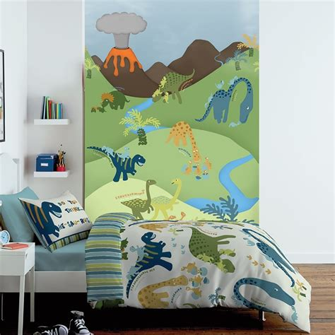 Childrens Wall Mural 1 wall cartoon dinosaur childrens mural kids wall art 1 58