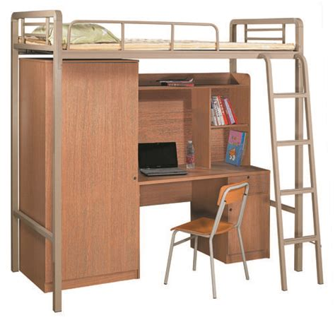 Bunk Bed With Desk On Bottom Beds Metal Bunk Bed With Office Desk And Wardrobe At The Bottom The Space Saving