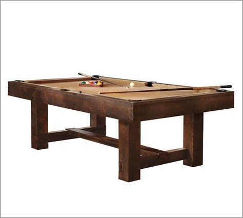 pool table ping pong dining table pottery barn pool table pottery barn basement ideas