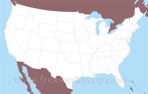 Free printable maps of the United States