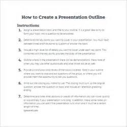 Make Ppt Template by 7 Presentation Outline Templates Free Ppt Word Pdf