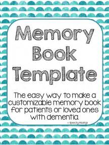 memory book template dementia memory books printable templates pictures to pin