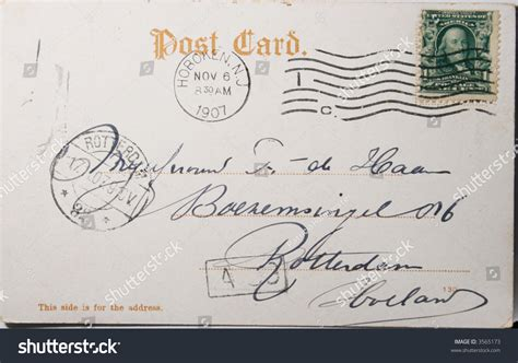Netherlands Address Lookup Vintage Postcard With One Cent St And Postmarked