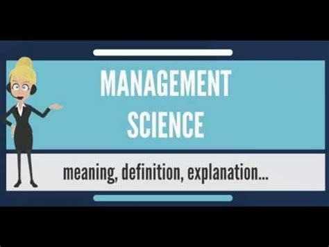 Management Science 2 what is management science what does management science