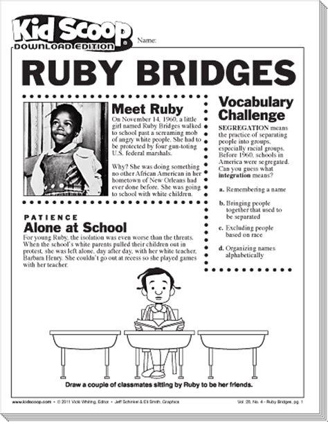 kid scoop ruby bridges lesson ideas pinterest