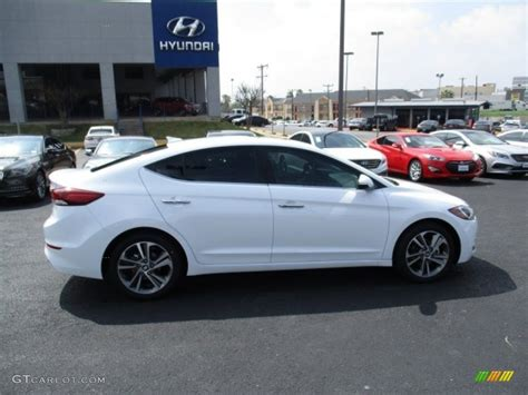 hyundai elantra white 2017 white hyundai elantra limited 111389241 photo 8