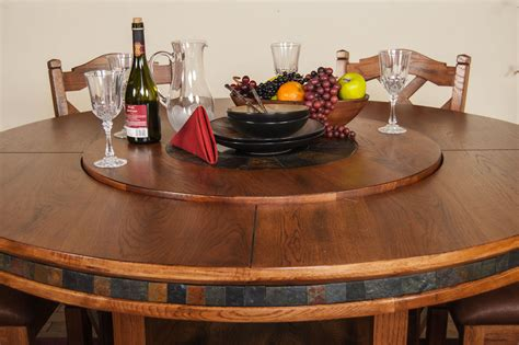 Lazy Susan Dining Room Table | sunny designs dining room sedona 60 quot round table w lazy