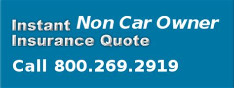 Non Owner Auto Insurance   Sunset Plaza Insurance