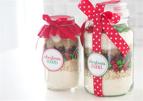 ideas jar gift idea christmas cookie mix in a jar the organised