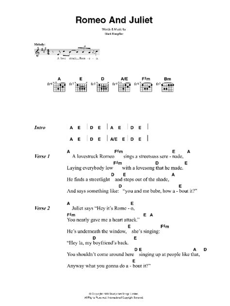 theme song of romeo and juliet lyrics romeo and juliet by the killers guitar chords lyrics