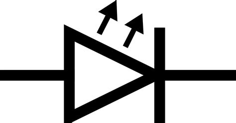 light emitting diode circuit symbol clipart iec led symbol