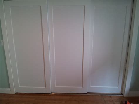 3 Track Sliding Closet Doors Simple Sliding Closet Doors Three Panel Roselawnlutheran