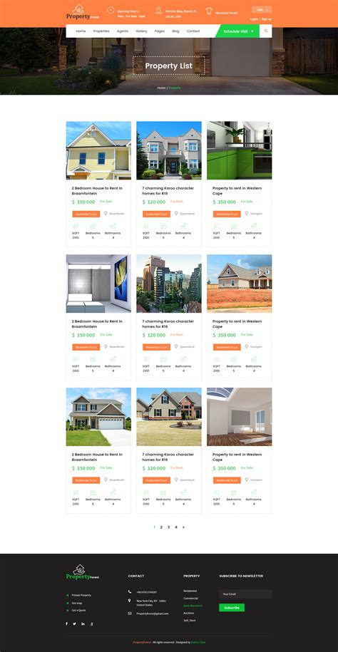 real estate and property listing template by template mr