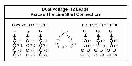diagrams 451228 12 lead motor wiring diagram 3 phase