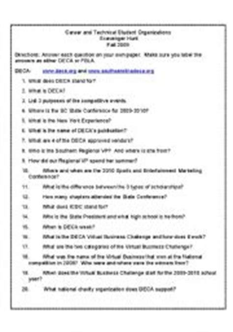 Dictionary Scavenger Hunt Worksheet High School