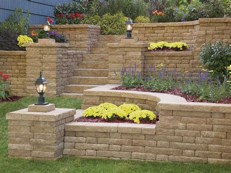 Garden Wall Pictures Highland 3 Quot Retaining Wall System By Anchor Wall Systems